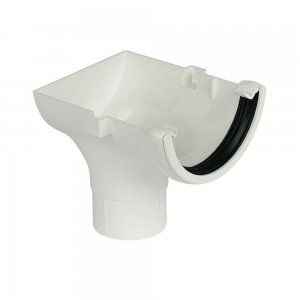 Half Round 112mm Gutter Stop End Outlet