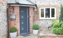 Composite Front Door Grey