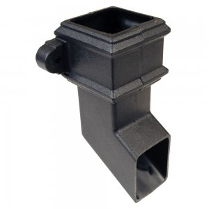 Cast Iron Style Square Downpipe Shoe