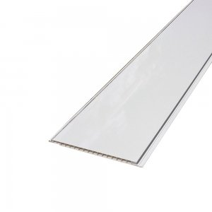 Decorative Ceiling Gloss White Silver Trim 250mm